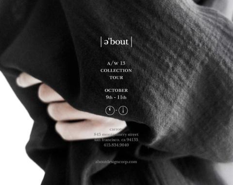 AW13 collection tour invite
